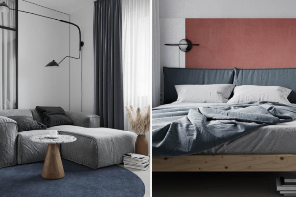 Make room chic Warmth with grays and pastels